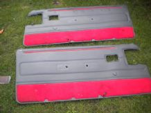 peugeot 205 1.9 1900 gti front x2 door cards  in red